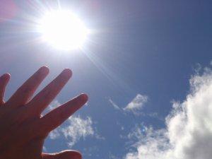 6月の空と太陽