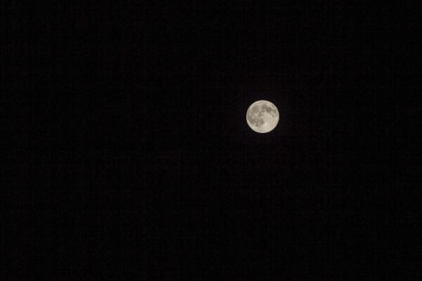 秋の夜に浮かぶ月