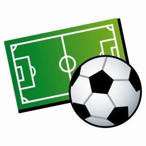 サッカーボールとフィールド