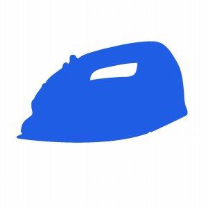 青いアイロン