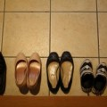 靴が置いてある玄関のたたき