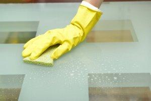 黄色いゴム手袋