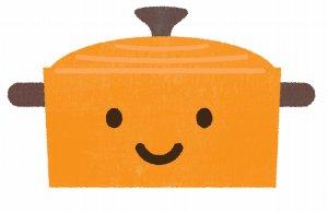 オレンジ色のホーロー鍋