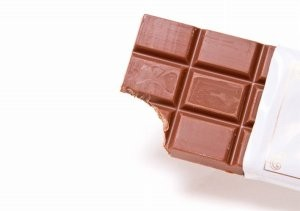 かじりかけの板チョコ