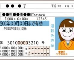 女性の運転免許証