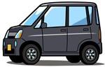 黒の軽自動車