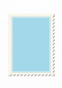 青い色の切手