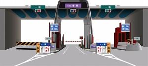 高速道路の出入口