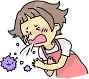 くしゃみをする女の子
