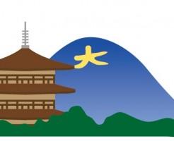 京都の寺と大文字山
