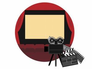 映画館と映写機