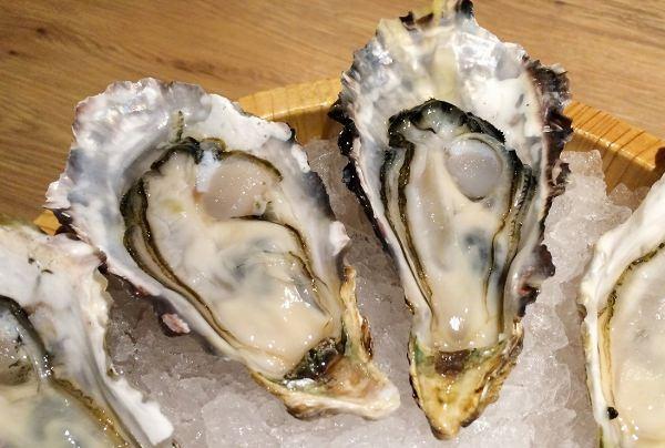 殻を開けた生牡蠣
