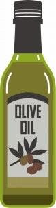オリーブオイルのボトル