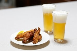 手羽先とビール