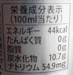 ライジンの栄養成分表示