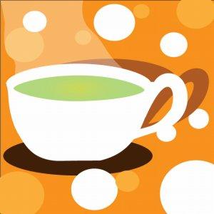 ティーカップの緑茶