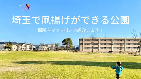 埼玉で凧揚げができる公園を紹介!マップ付き場所ガイド