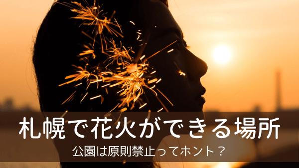 札幌で花火ができる場所6選!公園は原則禁止ってホント?
