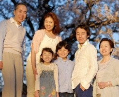 春休みの家族写真