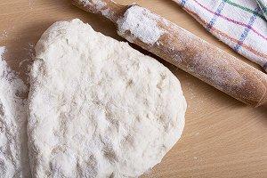 手捏ねパンの生地