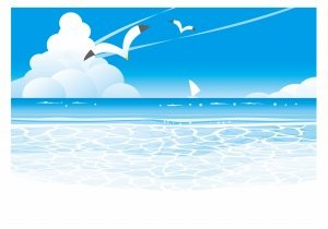 大海原の風景