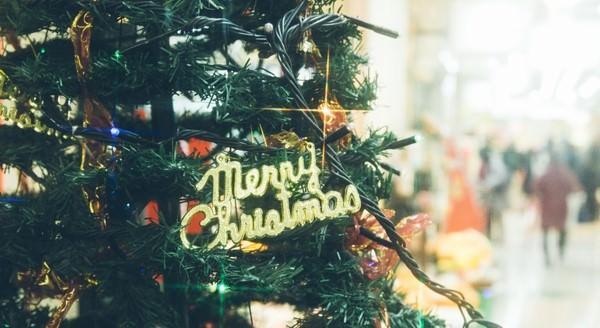 モールに飾られたクリスマスツリー