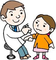 予防接種を受ける子供